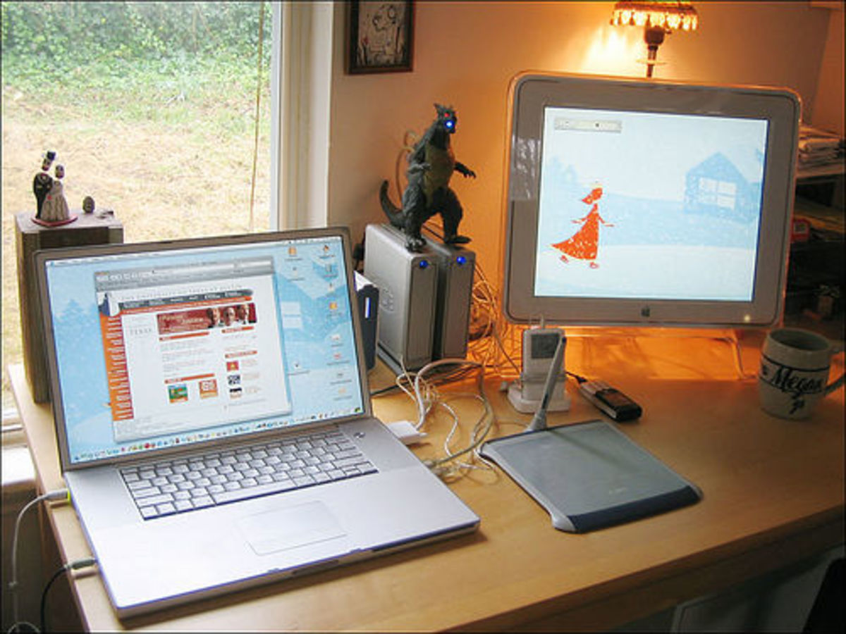 A typical work at home office