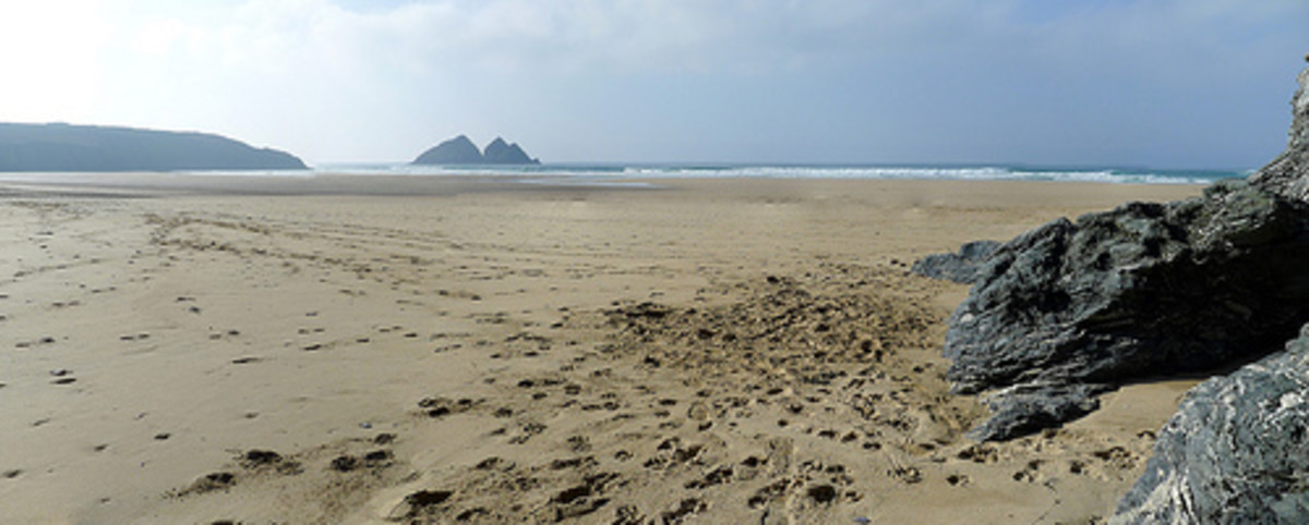 The 2 Holy Wells of Holywell Bay, Cornwall
