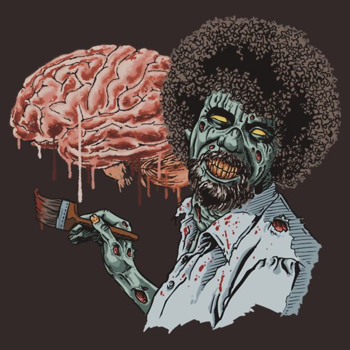 Zombie Bob Ross