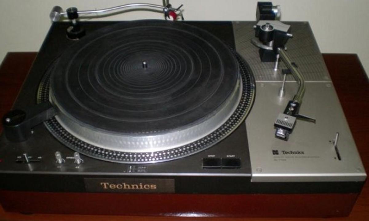A classic Technics turntable.