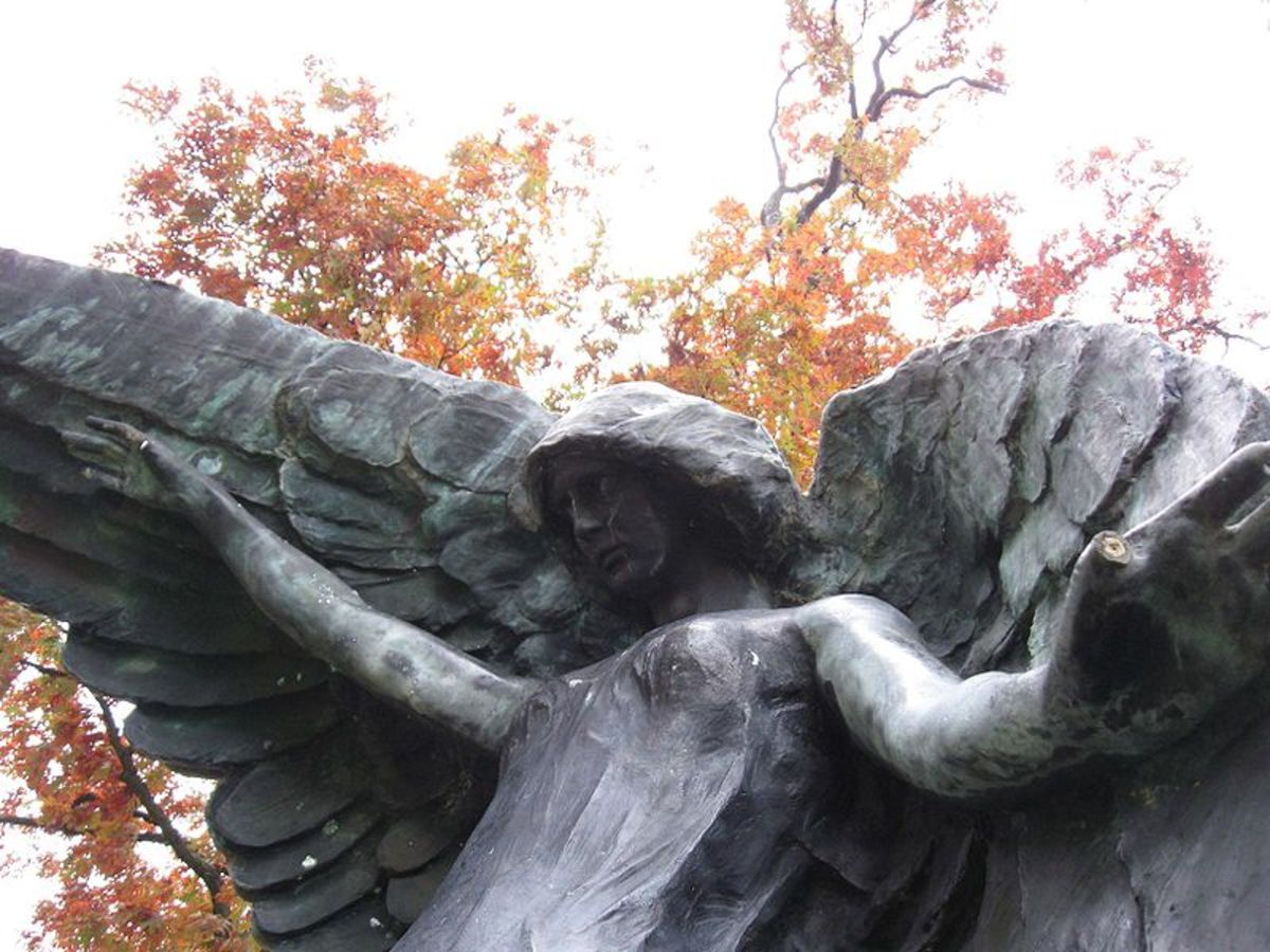 Sculpture of the Black Angel of Death.