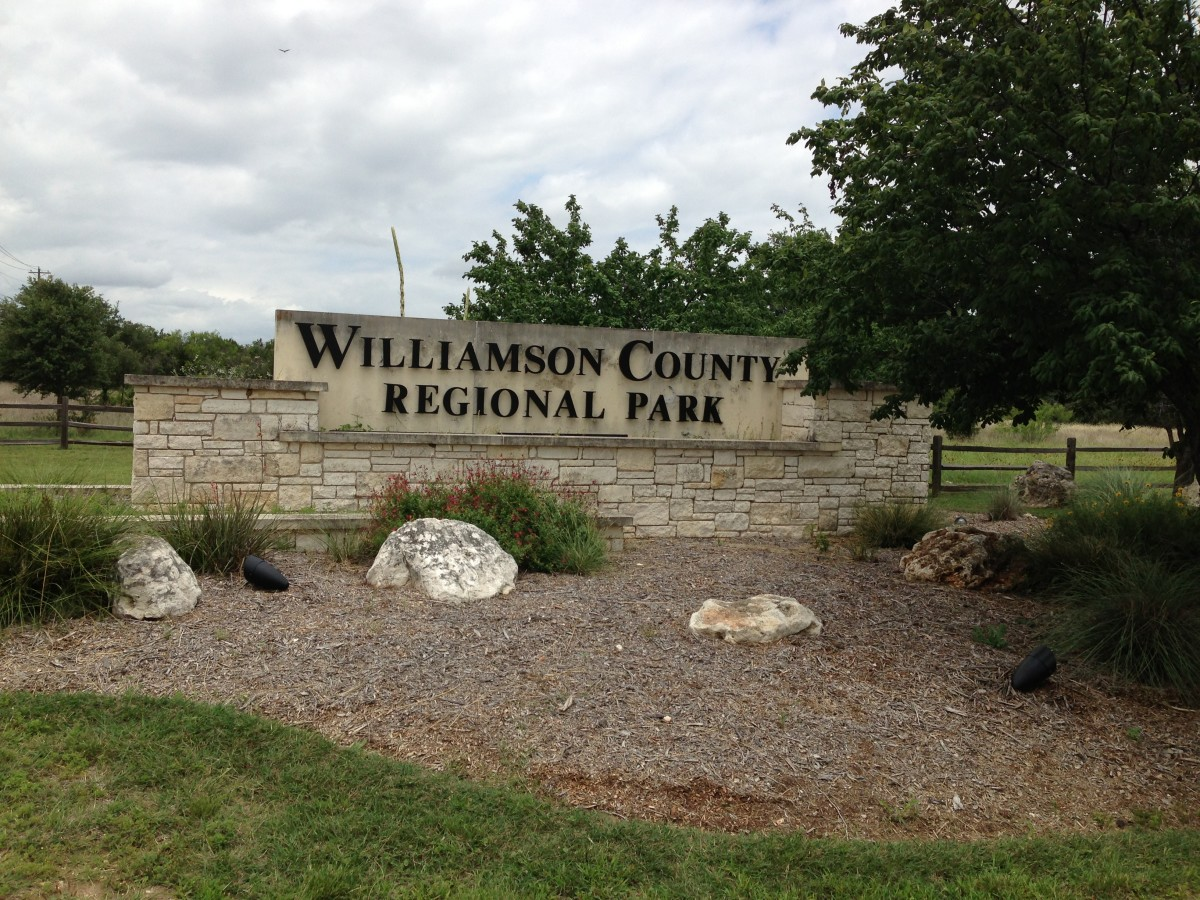 Williamson County Regional Park Entrance Leander and Cedar Park TX
