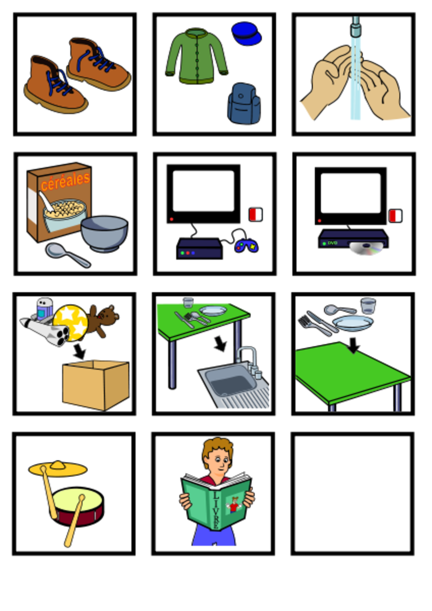 Visual supports such as those used in the PECS communication system can be very helpful and useful for children with autism and related conditions.