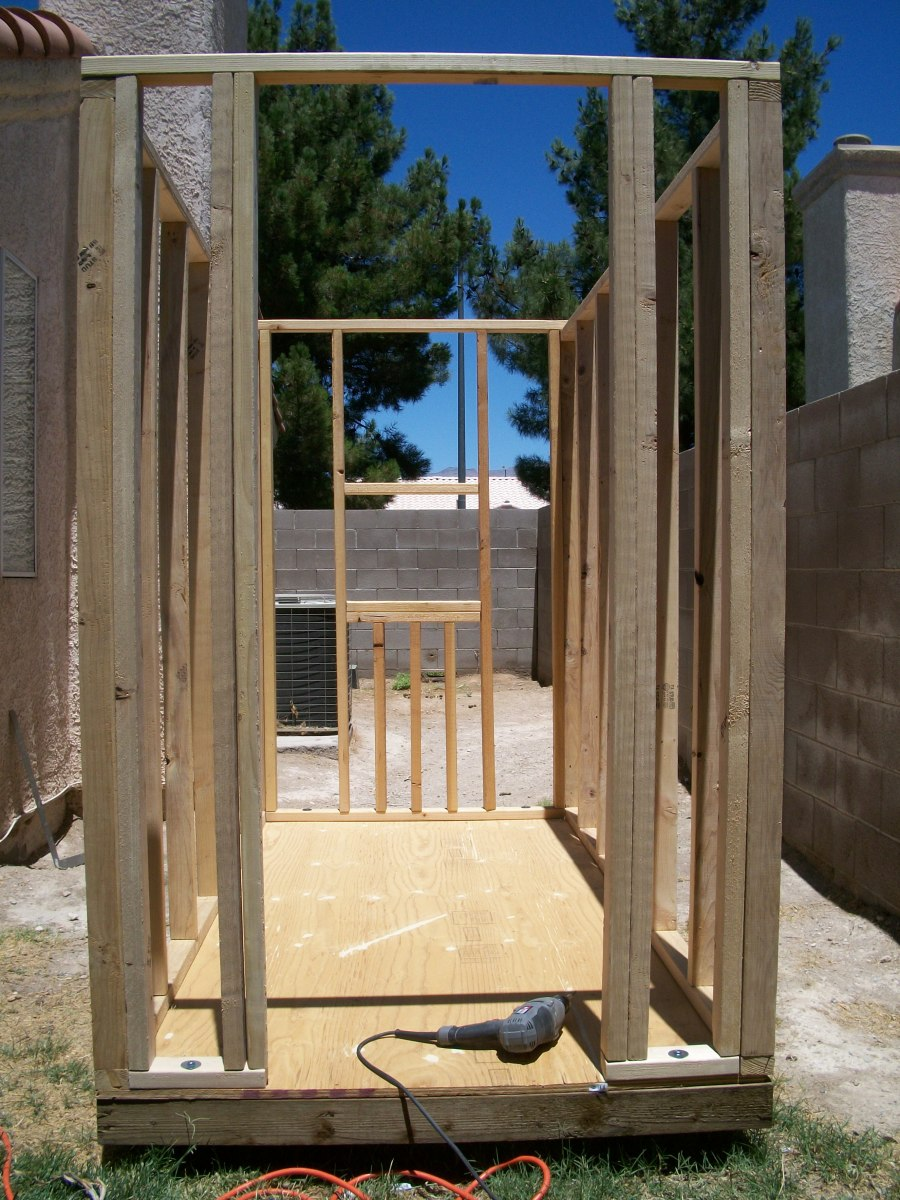 All four walls framed and in place