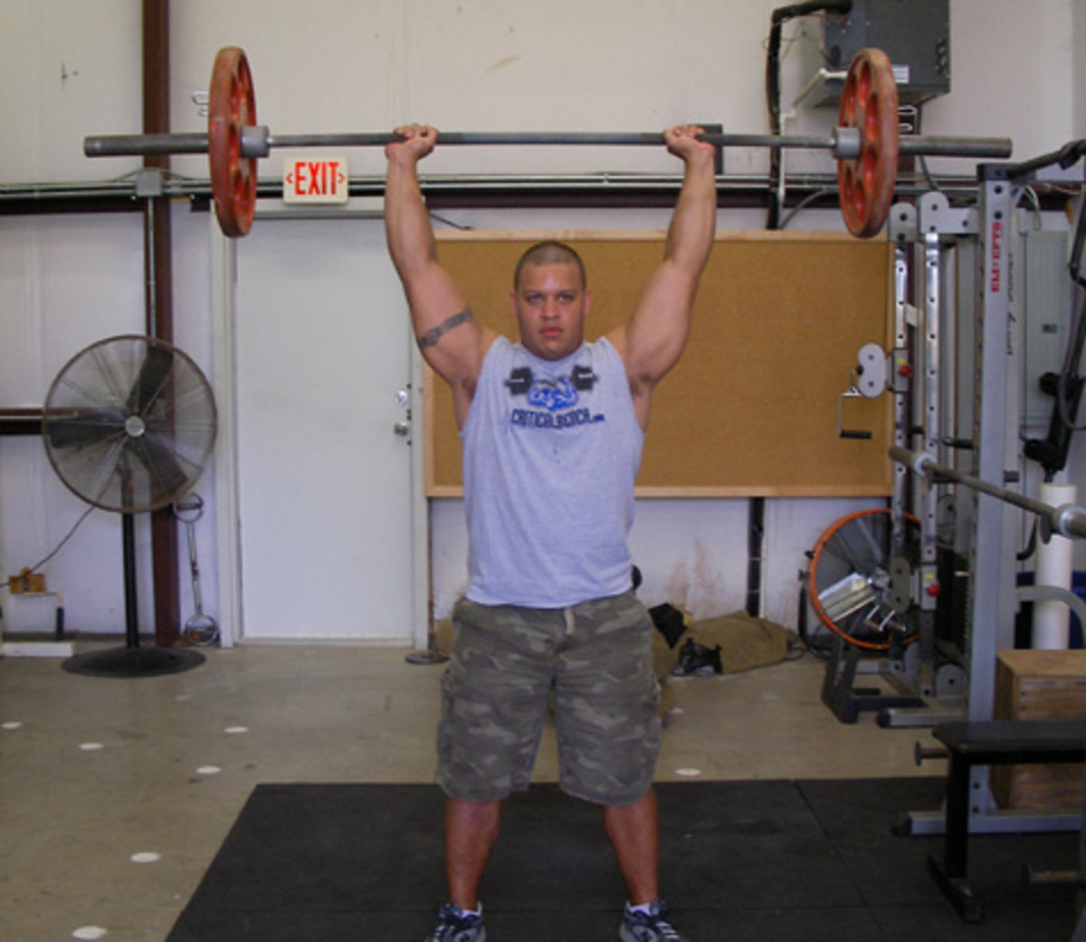 With the sheer amount of weight able to be handled, the overhead press yields the best results for shoulder development.