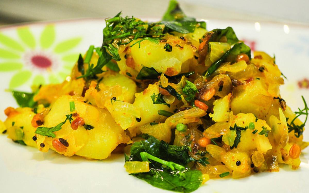 Easy Recipe for Making Indian Aloo Bhaji