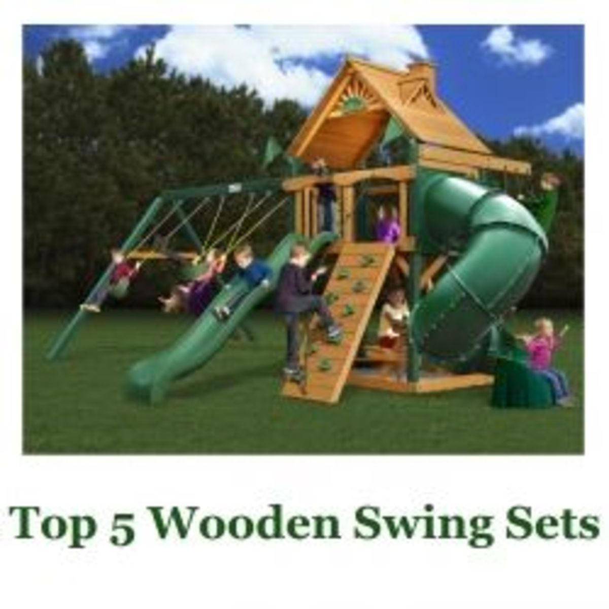 Top 5  Wooden Swing Sets for Kids
