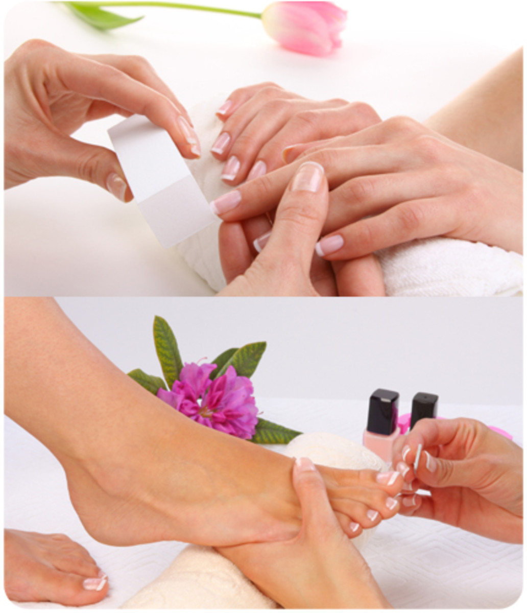 Massage treatments for hands and feet.
