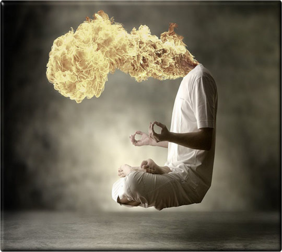 Surreal-photo manipulation 1 Fire Head
