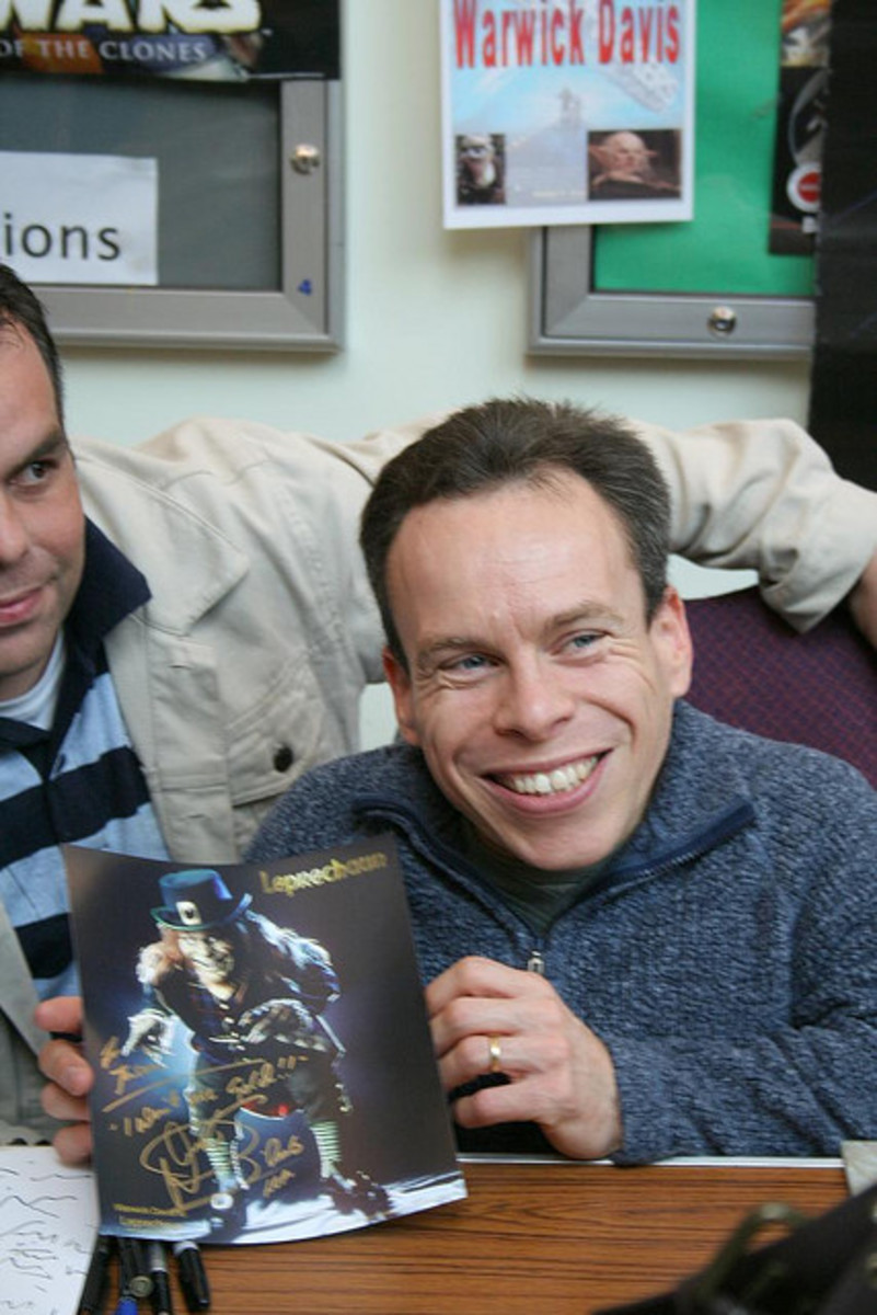 Warwick Davis played the Ewok, Wicket, in Return of the Jedi.