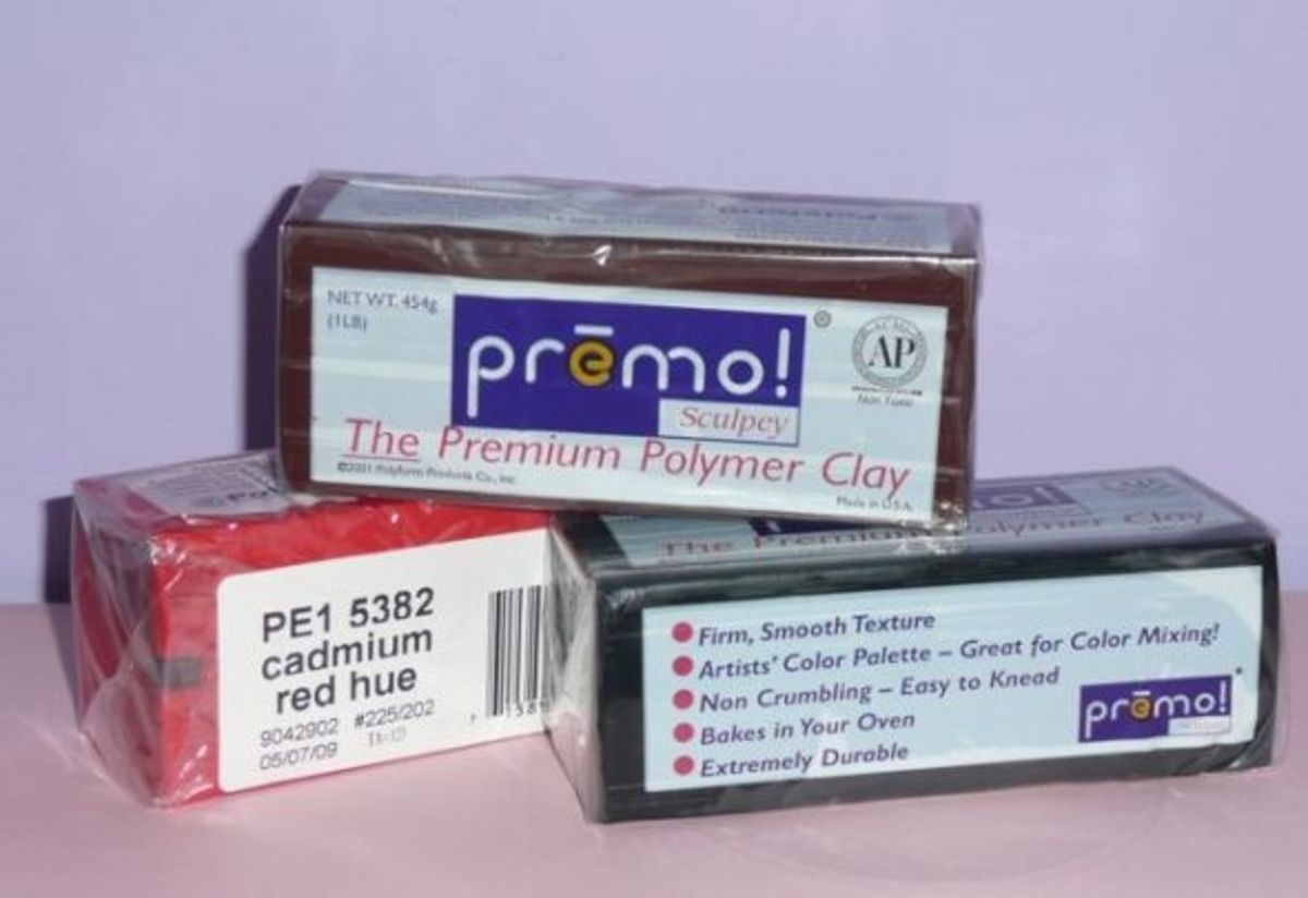 Premo Sculpey polymer clay - image copyright of the author