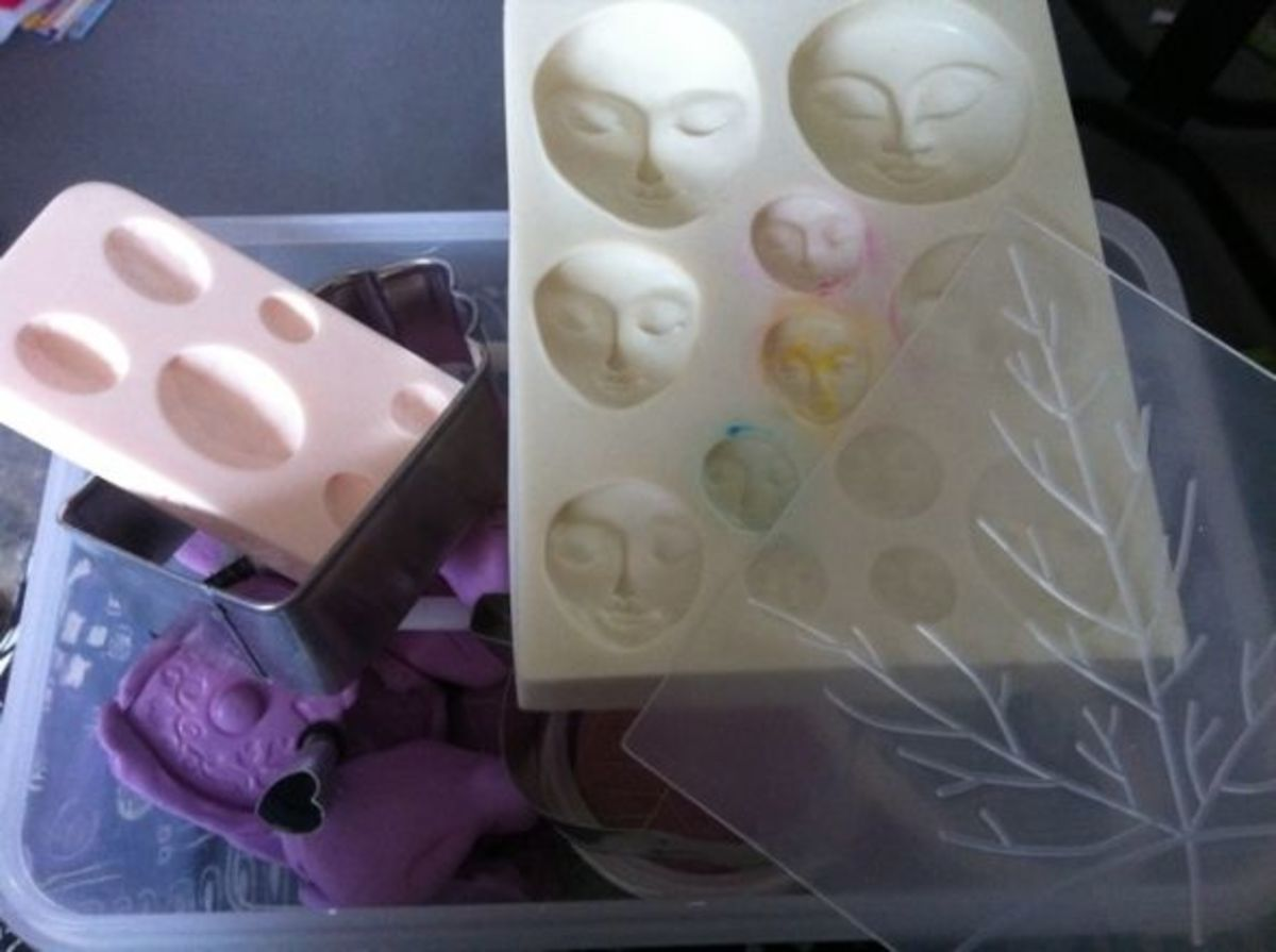 Assorted Molds, Cutters and Stamps for Polymer Clay - image copyright of the author