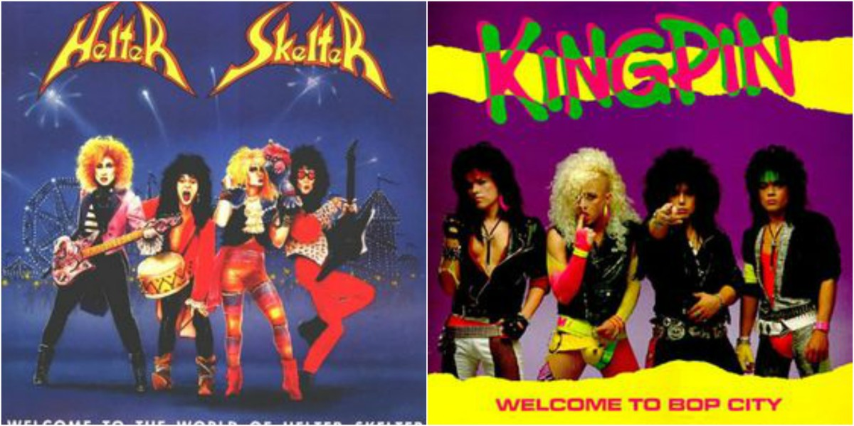 "Left: Helter Skelter, ""Welcome to the World of Helter Skelter,"" right: Kingpin, ""Welcome to Bop City"""