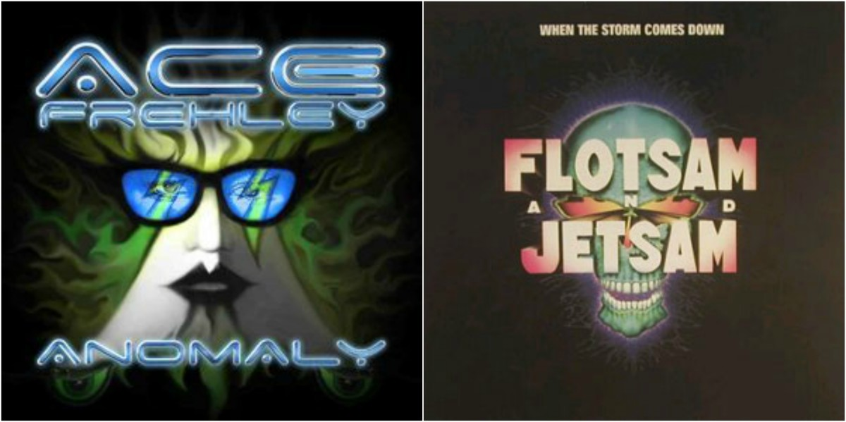 "Left: Ace Frehley, ""Anomaly,"" right: Flotsam & Jetsam, ""When the Storm Comes Down"""
