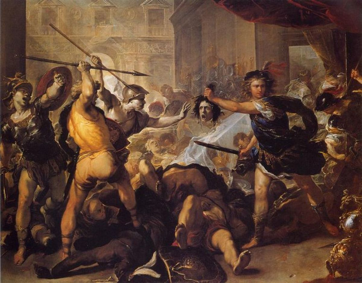 Perseus Turning Phineus and his Followers into Stone: Luca Giordano, early 1680s.