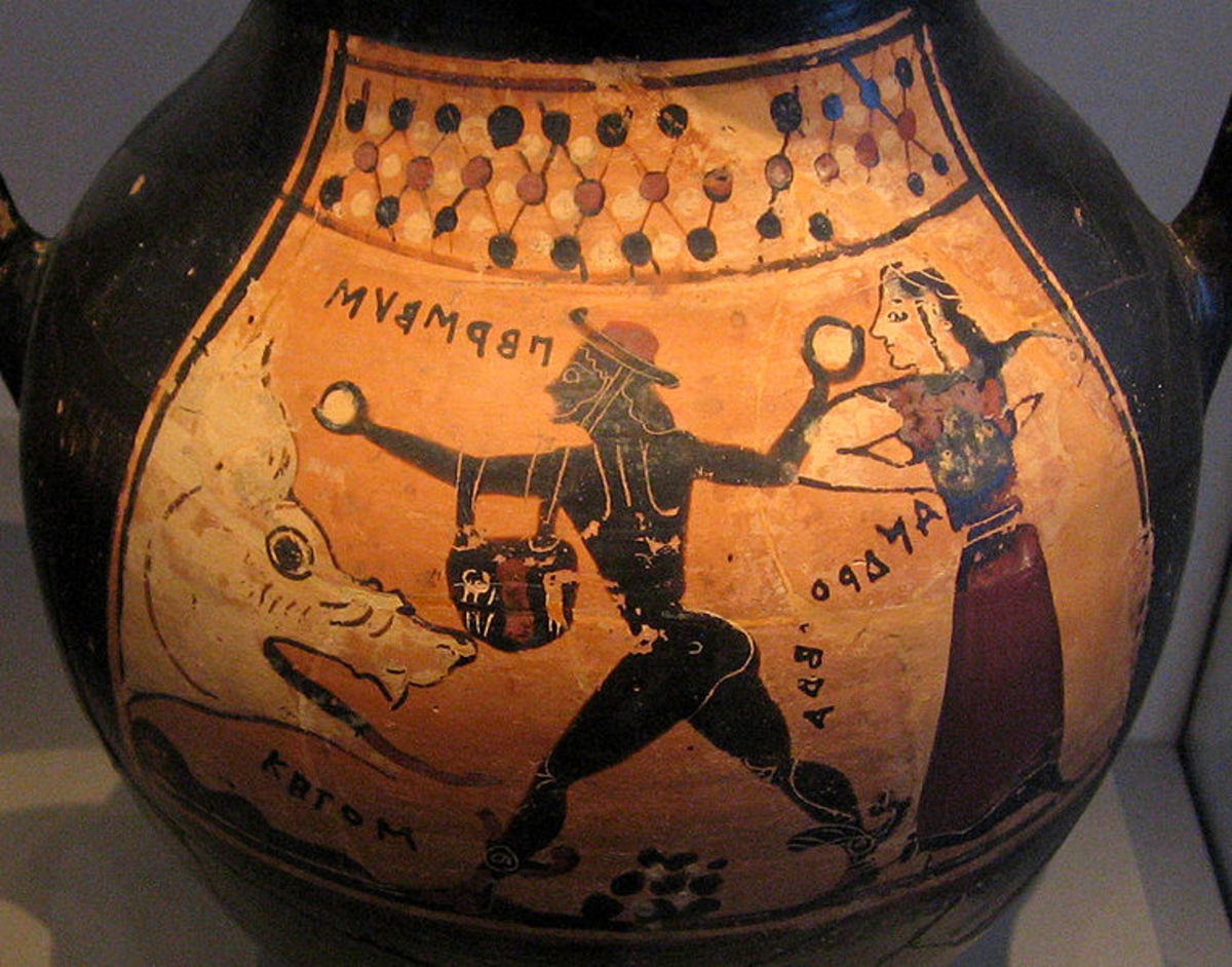 Perseus and Andromeda: Greek Amphora