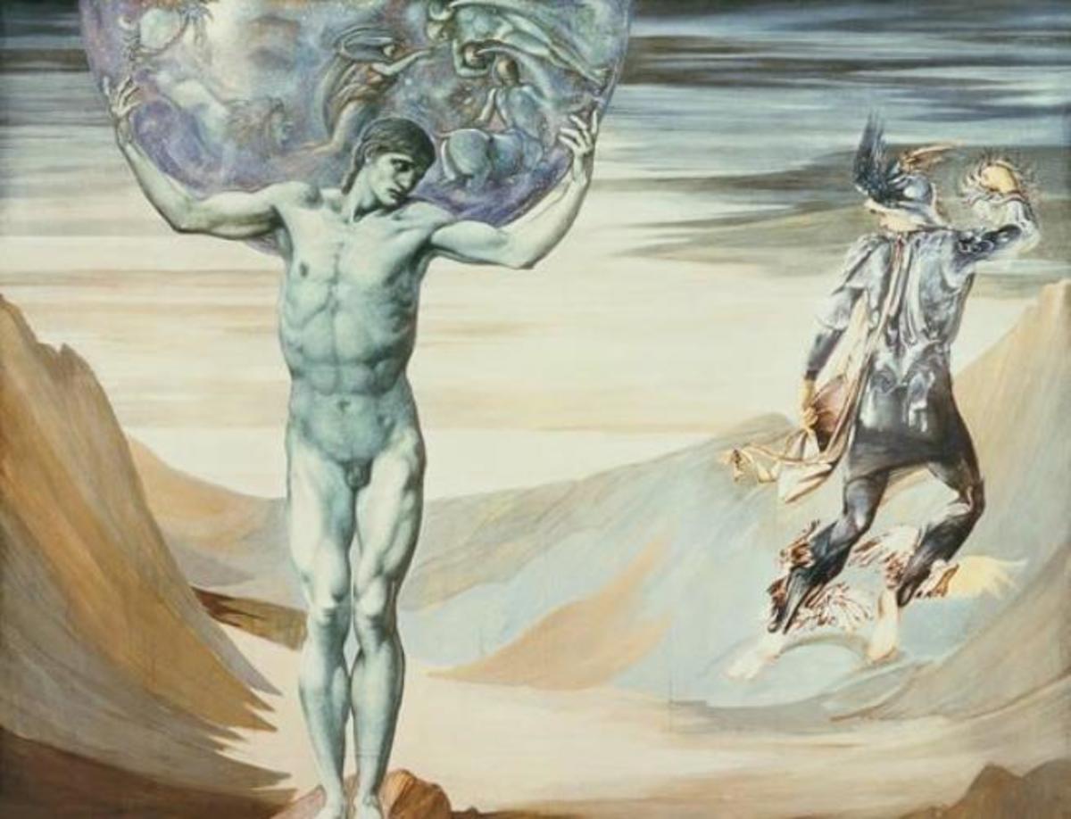 Atlas Turned to Stone by Edward Burne-Jones
