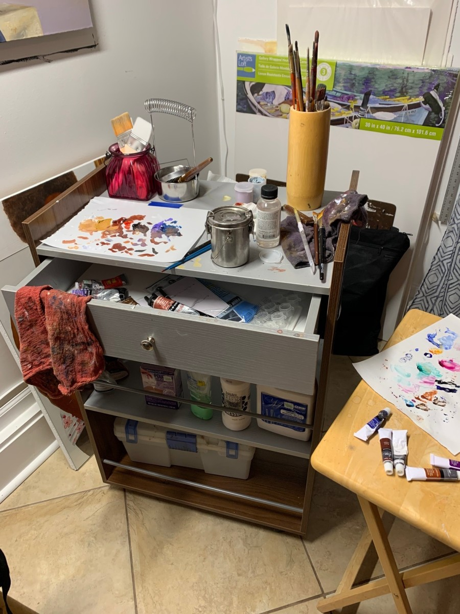 Art supplies and studio spaces generally aren't cheap! Photo by Corinna Nicole
