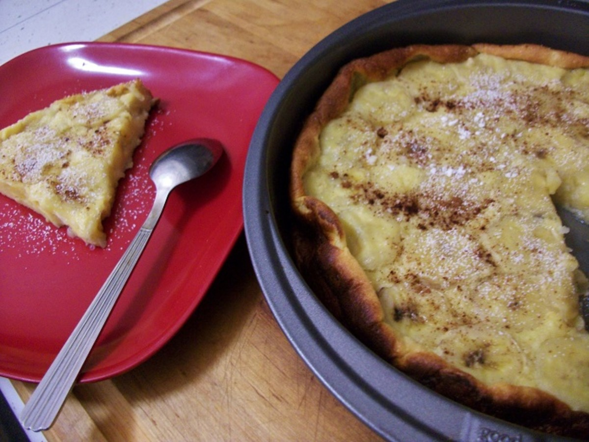 Banana Frittata or Sweet Banana Omelette