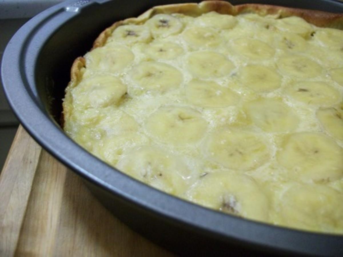 Voila! Freshly baked banana frittata