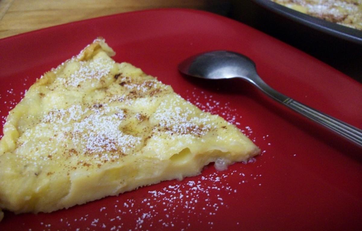 Baked Banana Frittata or Sweet Banana Omelette