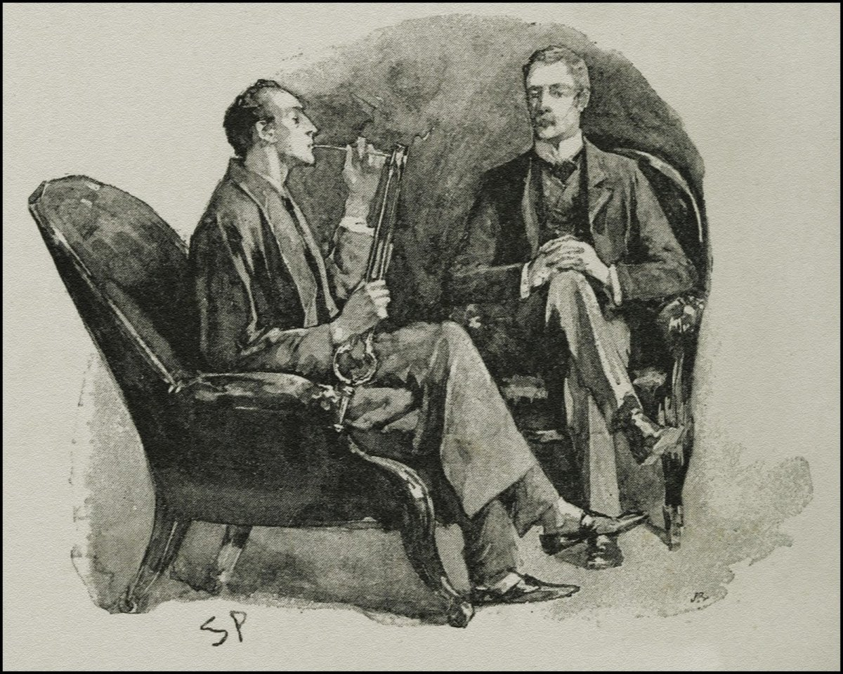 Holmes and Dr. Watson (Holmes with the pipe)