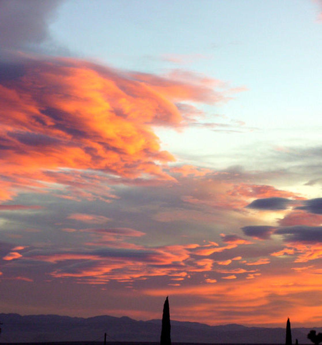 Civil twilight at dawn.
