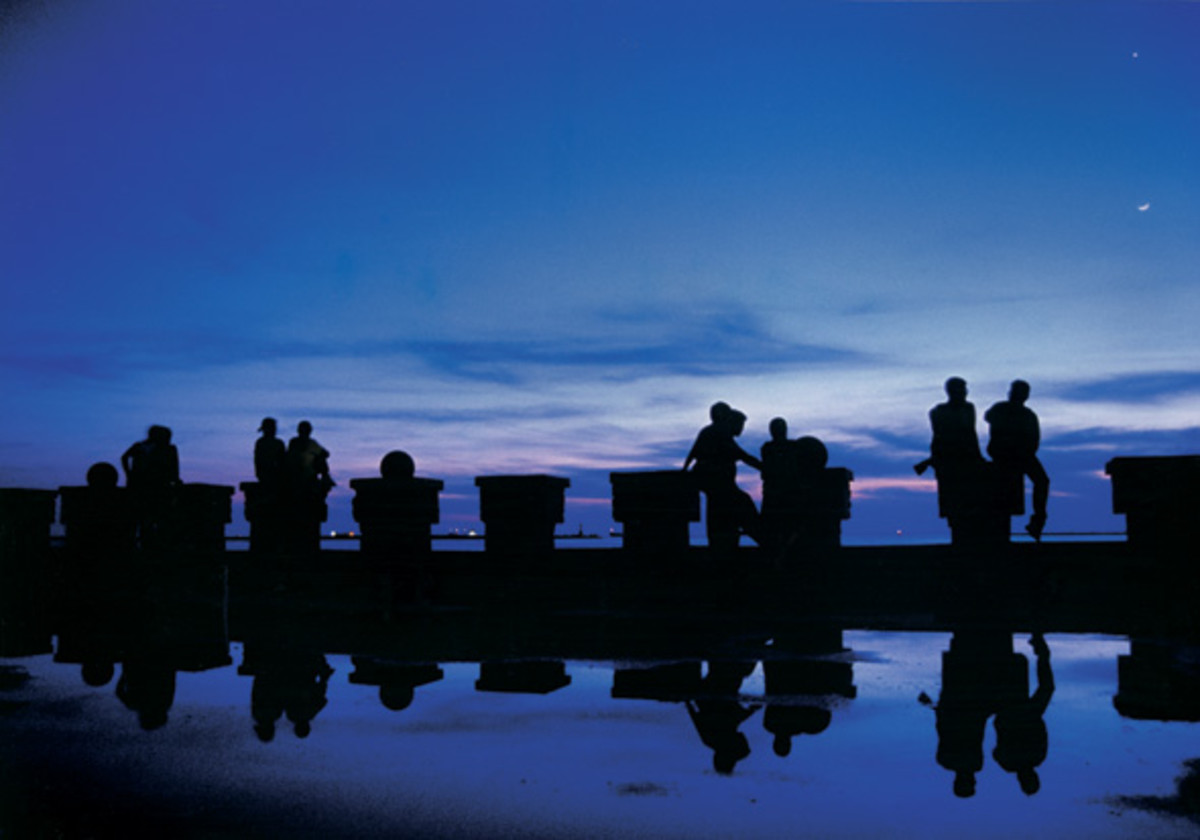 When there is a nautical twilight, the horizon can still be seen but artificial lighting is needed to do activities.