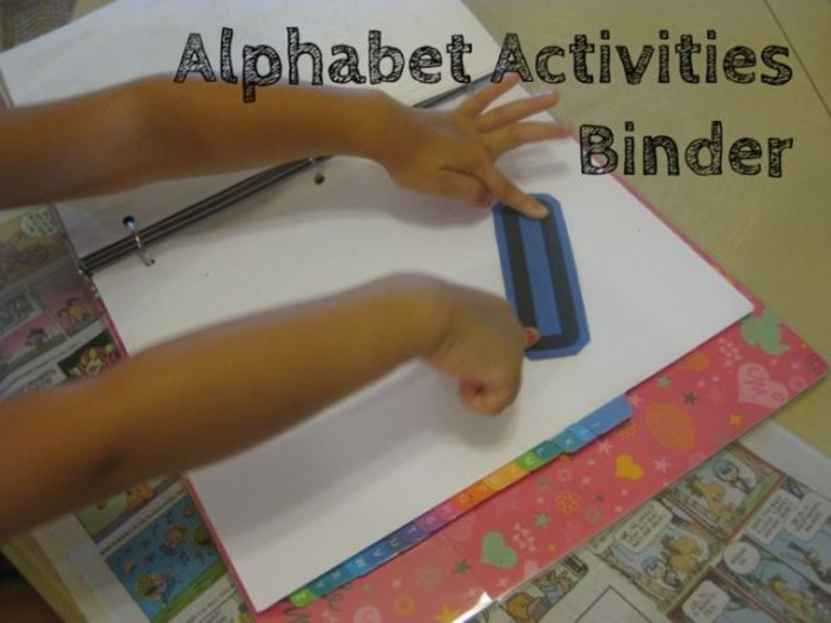 alphabet activites for kids binder