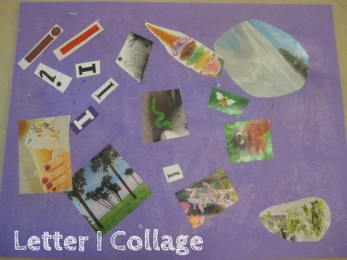 alphabet activites for kids letter i collage