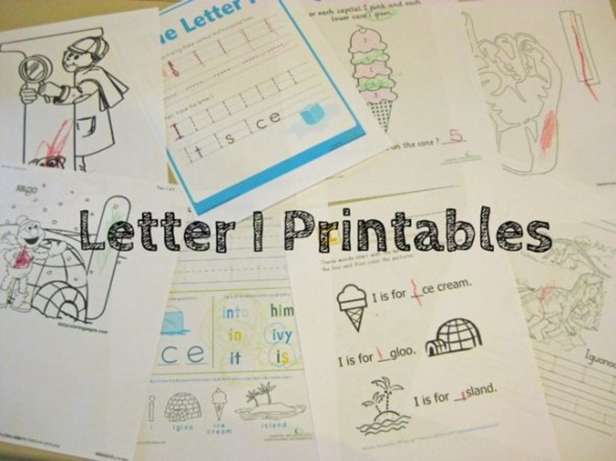 alphabet activites for kids letter i free printables