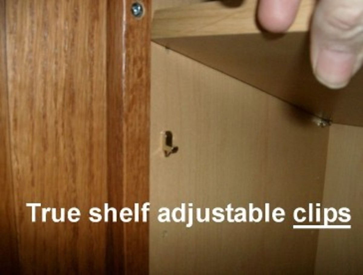Truly  adjustable shelves