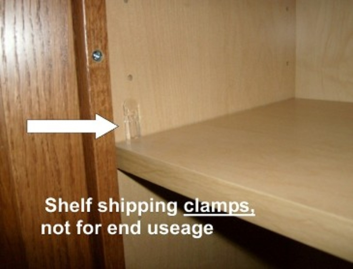Above are shipping clamps, fixed shelves