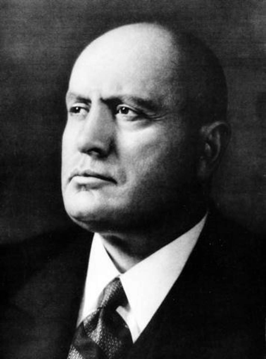 Mussolini may have confused himself with a God