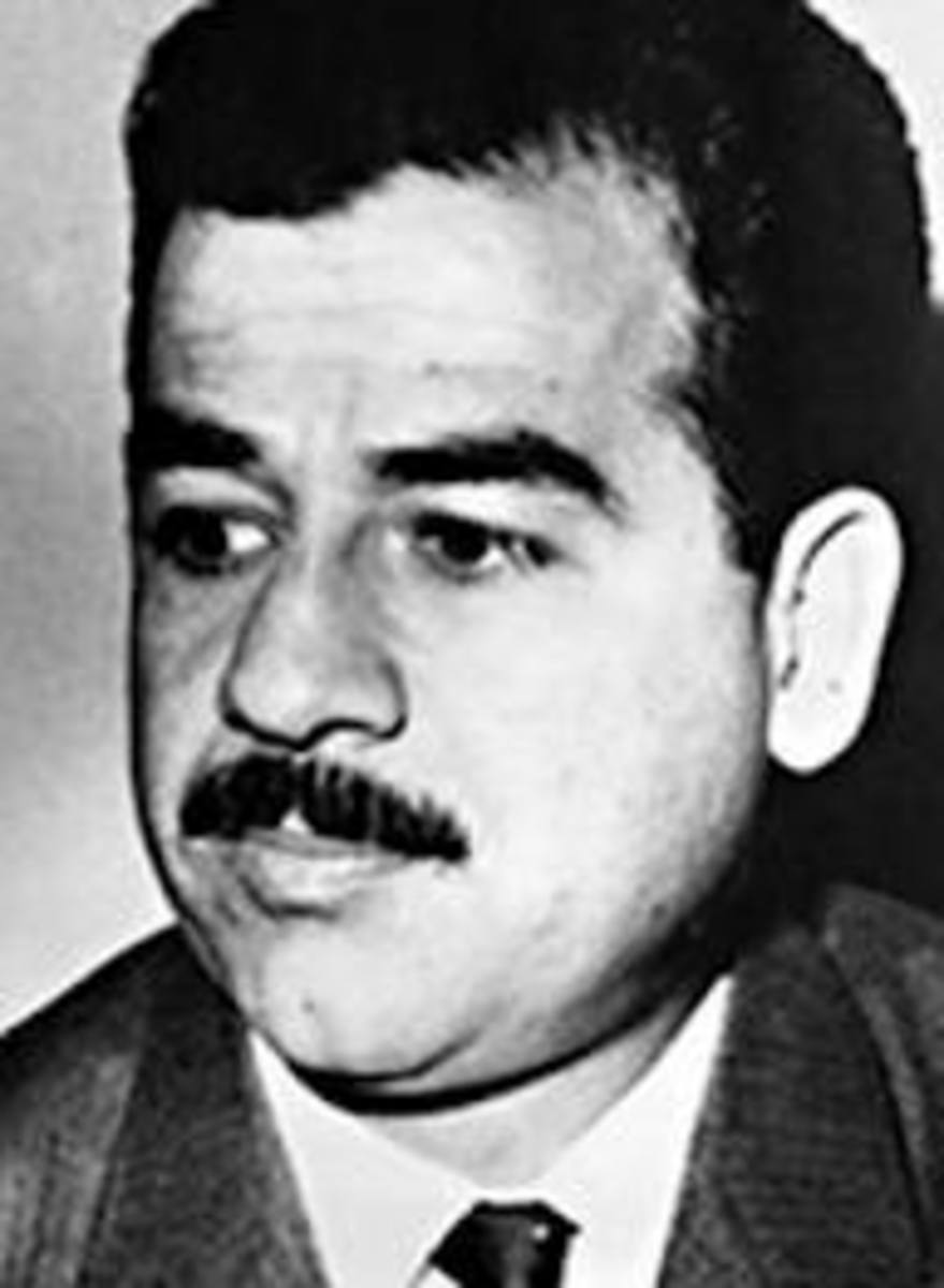 A youthful Saddam Hussein
