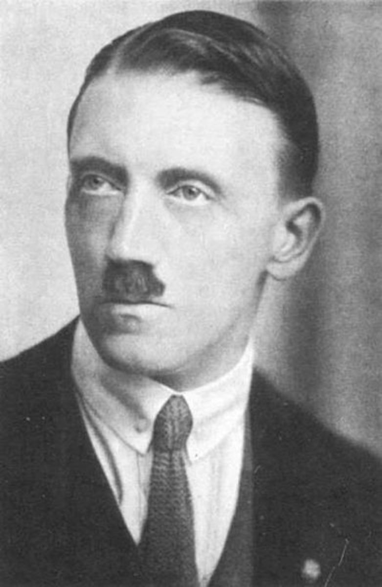 Hitler in his youth - a serious young insect. I wonder if he was born with that moustache?