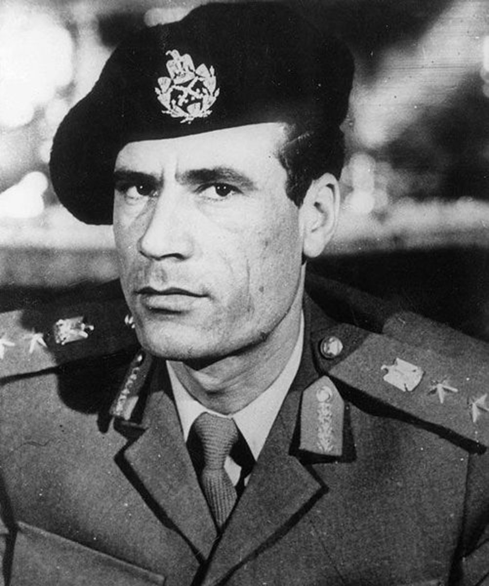 Although he's wearing a beret, it's pretty clear Gaddafi favoured short back and sides in his early days