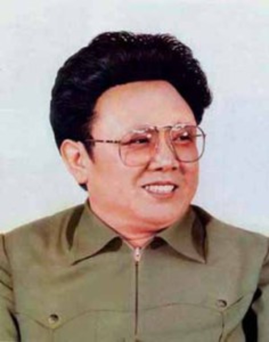 A relatively young KimYung-ill in his early days as Supreme Leader, looking a little 50s rock'n'roll