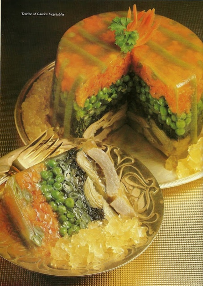 Terrine of Garden Vegetable Jello-O Salad