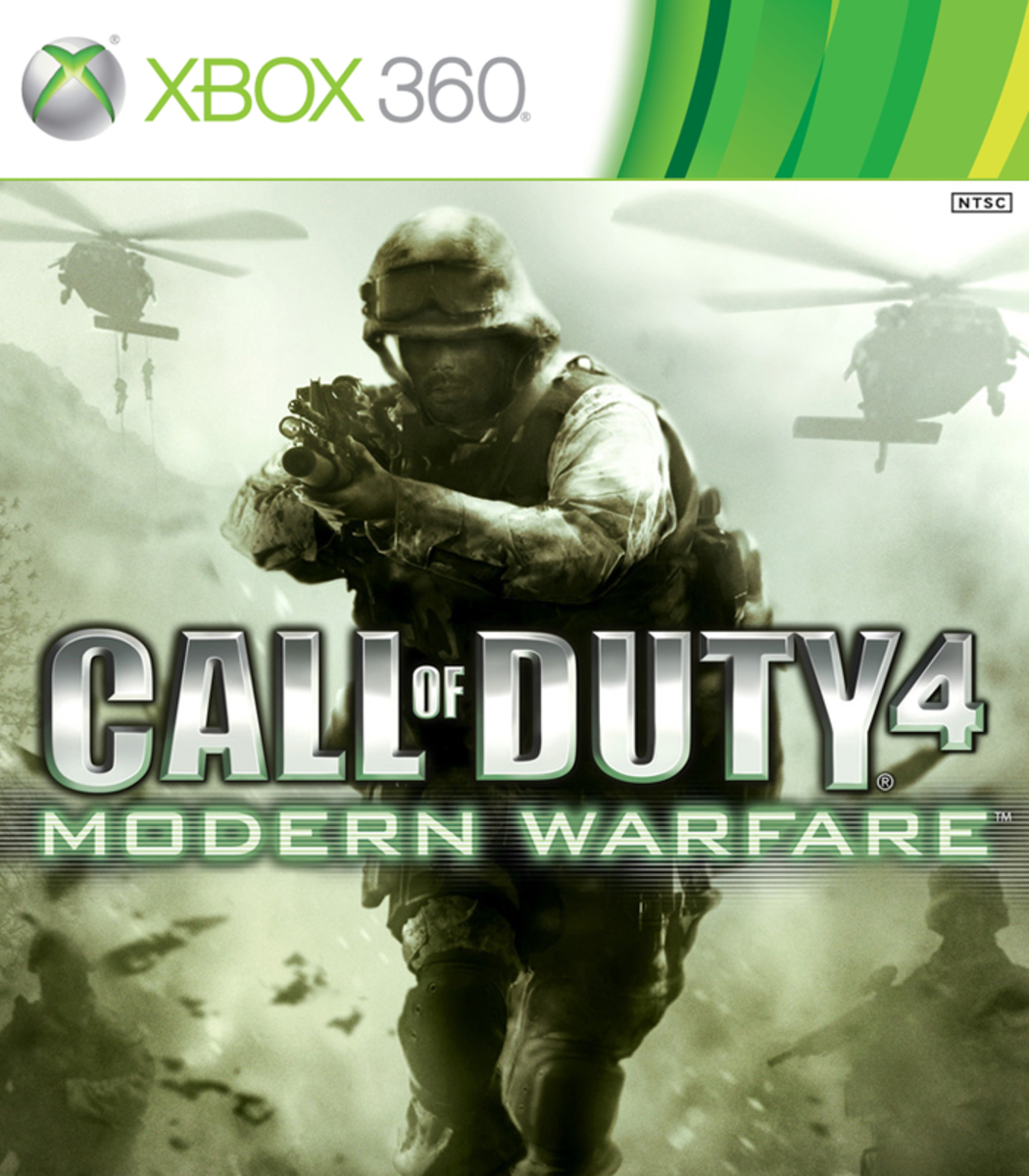 Call of Duty 4: Modern Warfare XBOX 360 game cover