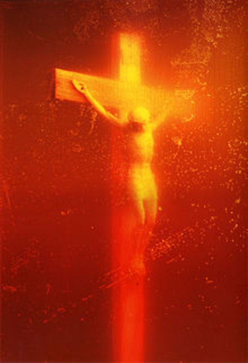 'Piss Christ', Cibachrome print, by Andres Seranno