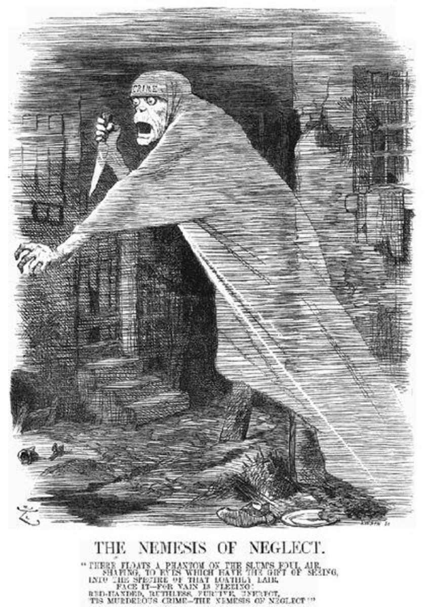 The media sometimes portrayed Jack the Ripper as a supernatural, demonic figure.