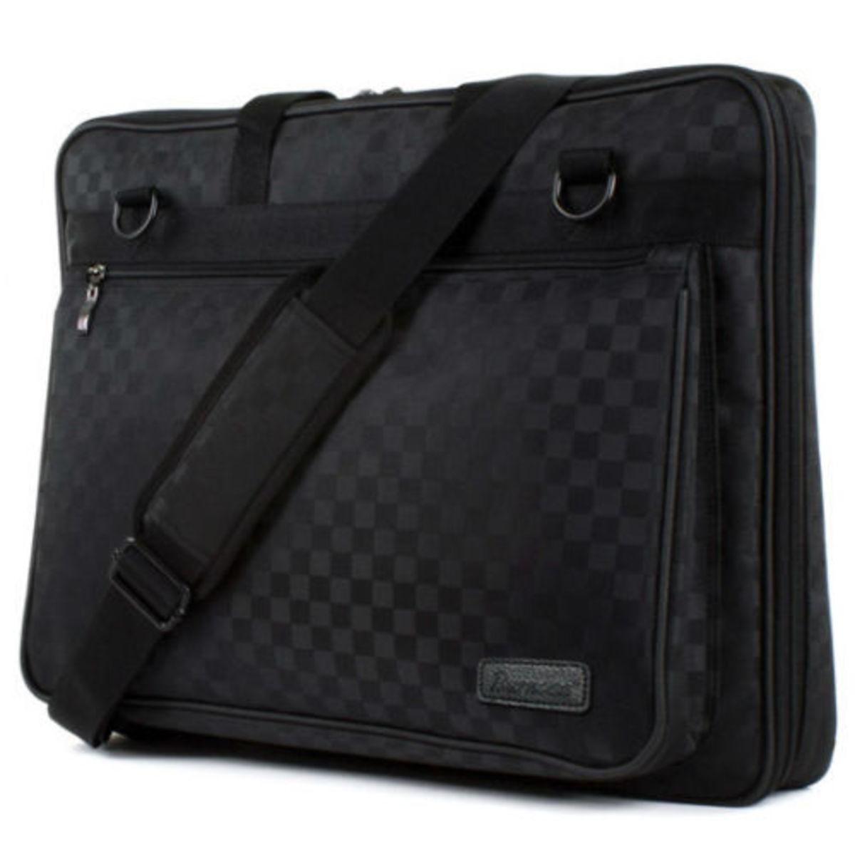 Universal Fit 18.4″ 19″ Laptop Carry Case Shoulder Bag Faux Leather 19W, Burnoaa