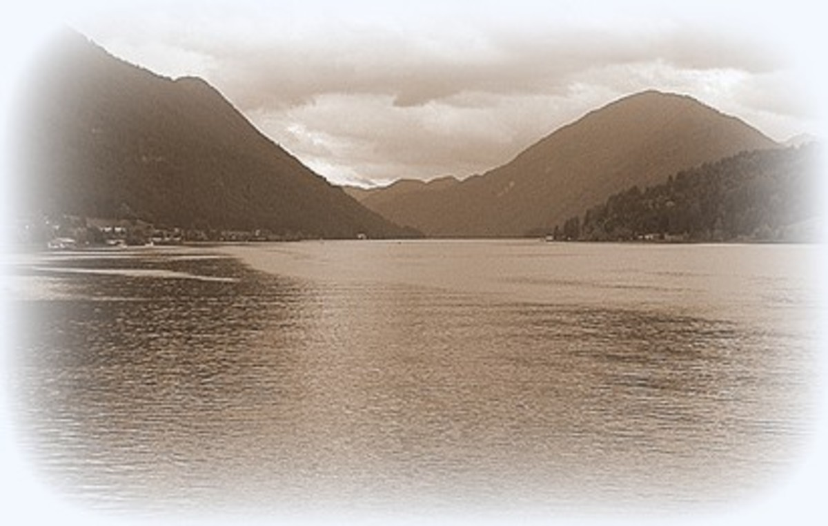 nature in sepia - memories of ripples along the lake  ~ suzettenaples
