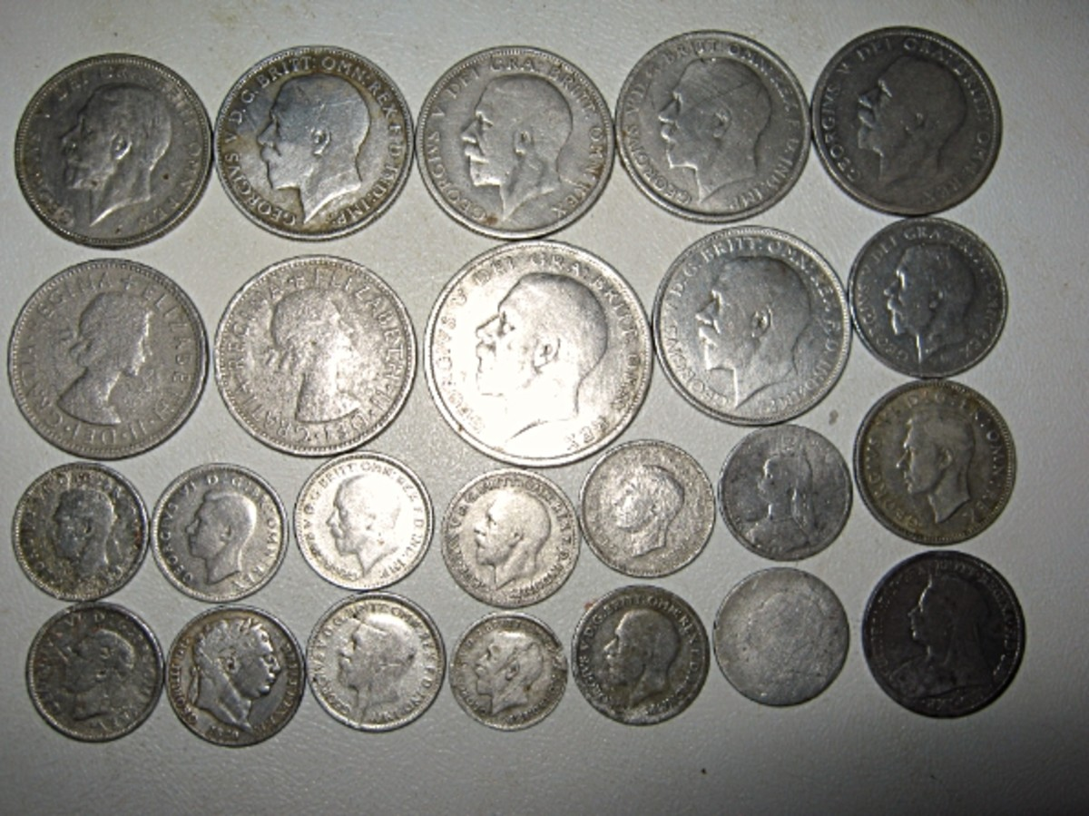 Silver coins start coming up like these milled silvers I have dug this past year.