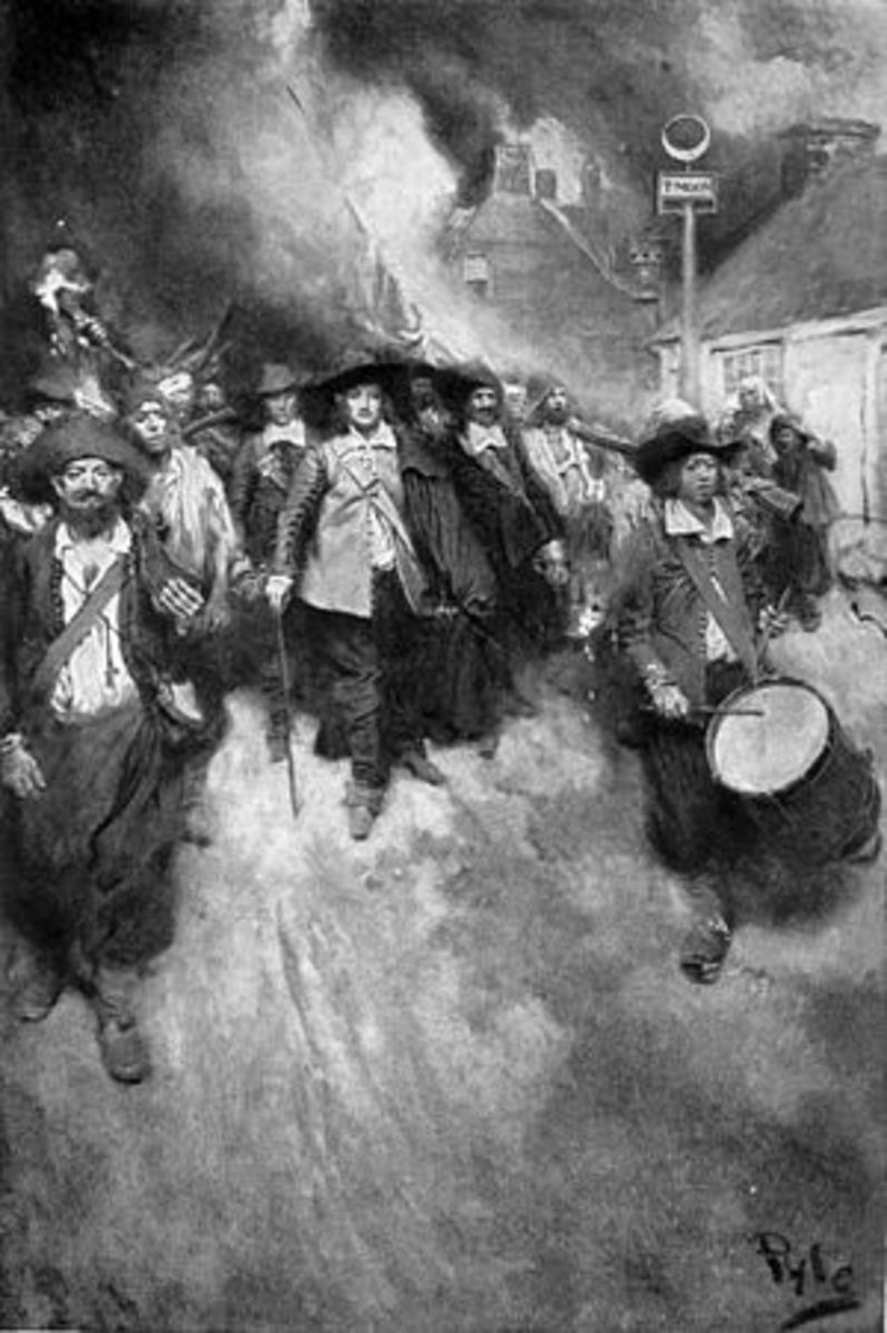The Burning of Jamestown by Howard Pyle, ca. 1905.
