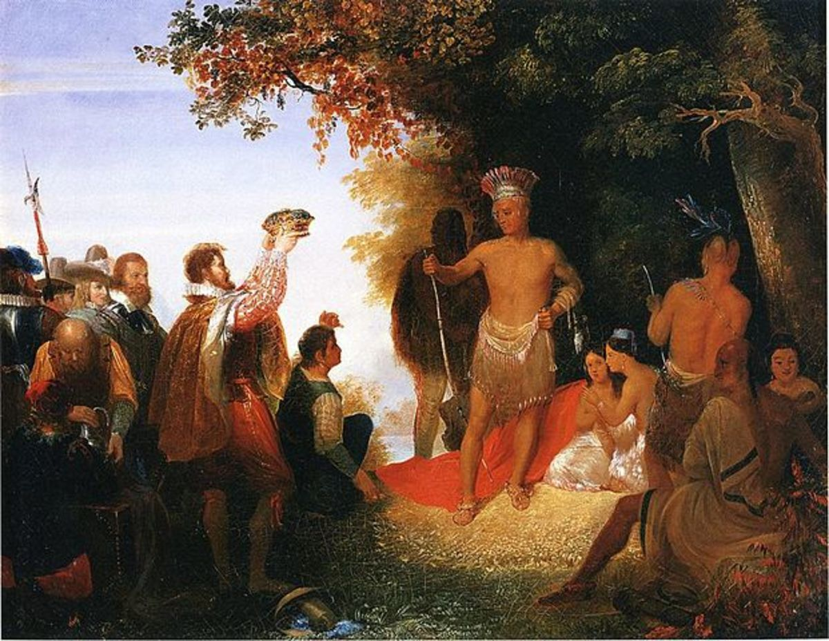 Powhatan, oil on canvas, John Gadsby Chapman, 1835
