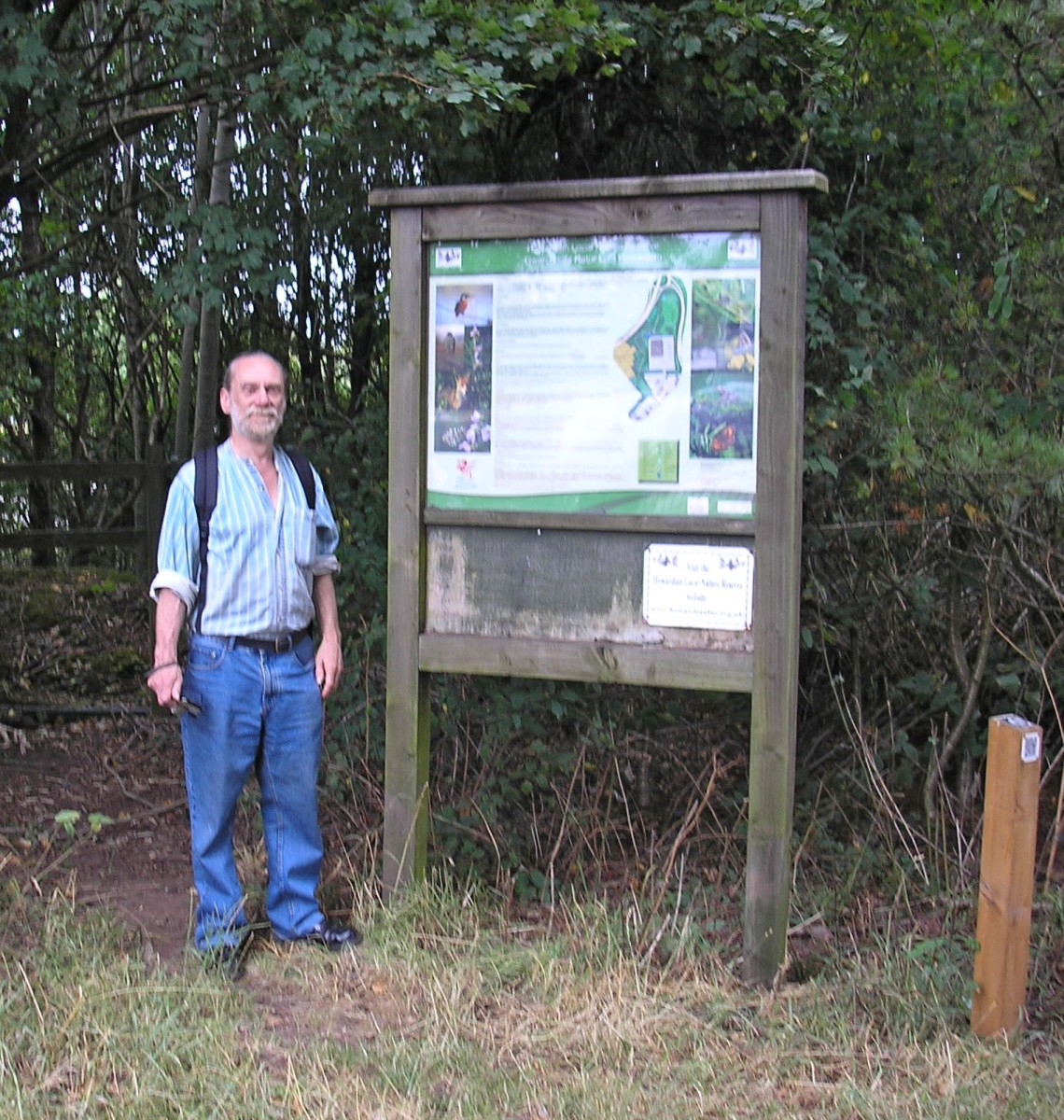 Roger Gilbert who works on the reserve standing at one of the entrances