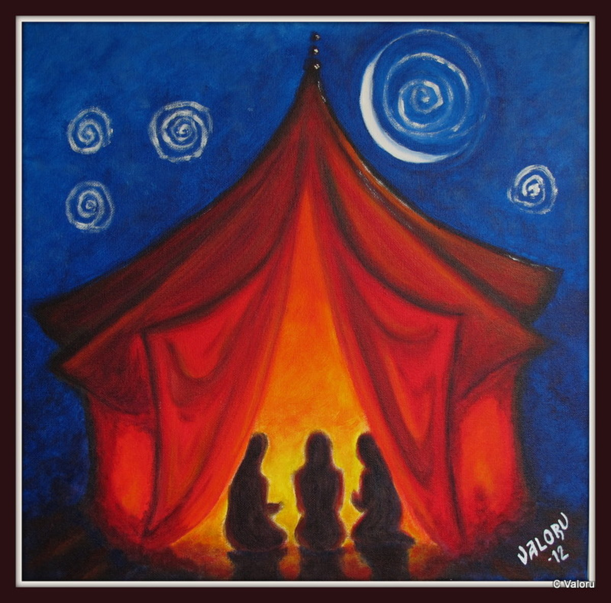 """Red Tent"". Artwork by Valoru"