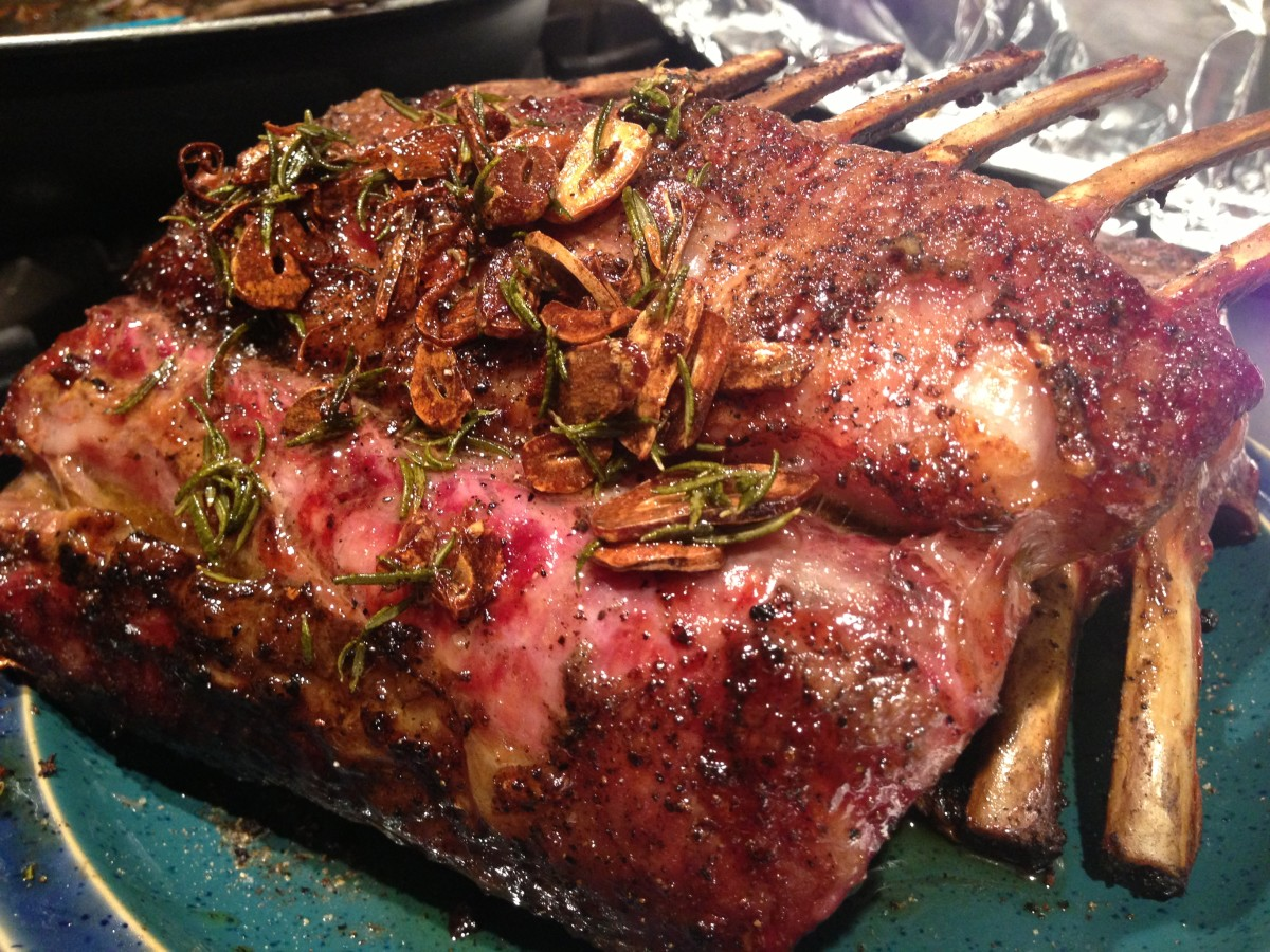 Grilling Rack of Lamb with Rosemary and Garlic ~ Delicious!